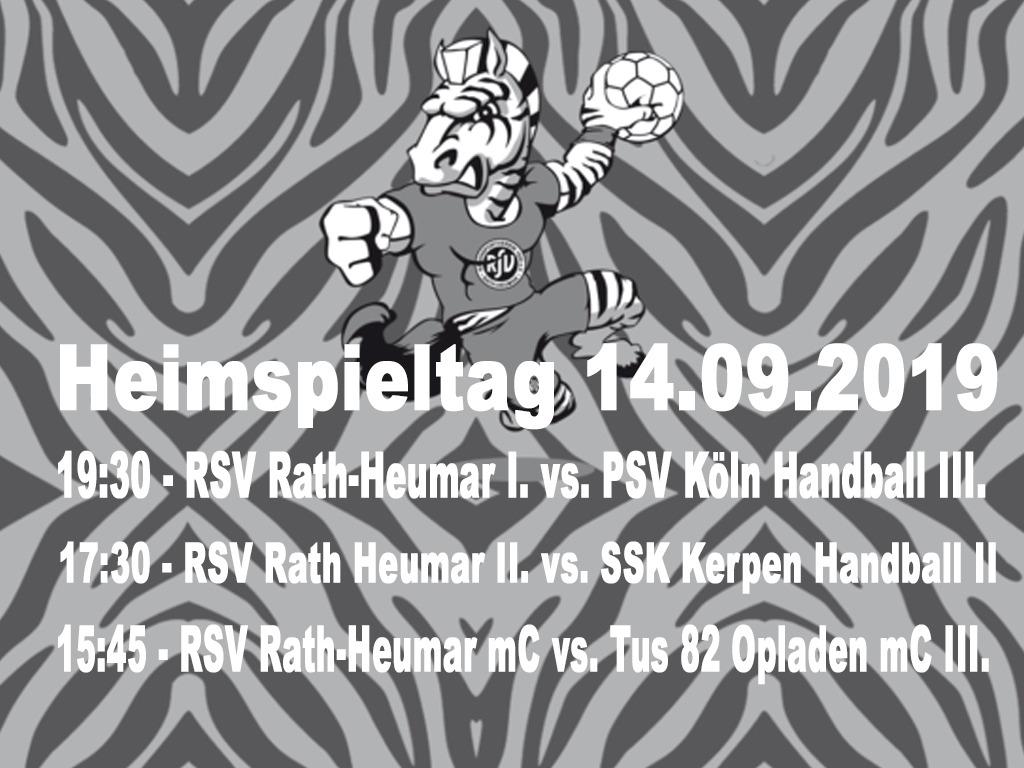 Vorbericht Heimspieltag 14.09.2019